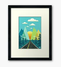the Long Road Framed Print