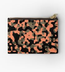 Peachy Camouflage Pattern Studio Pouch