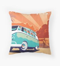 Eternal Kombi Summer Throw Pillow