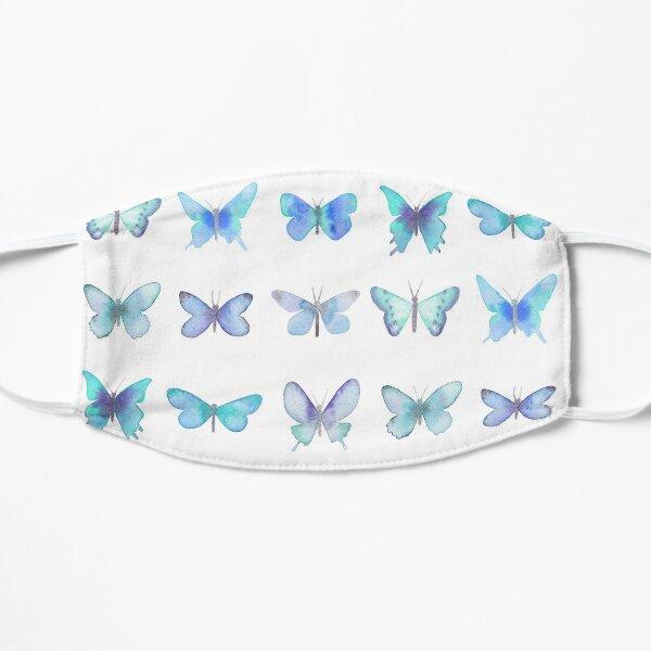Blue Butterflies Flat Mask
