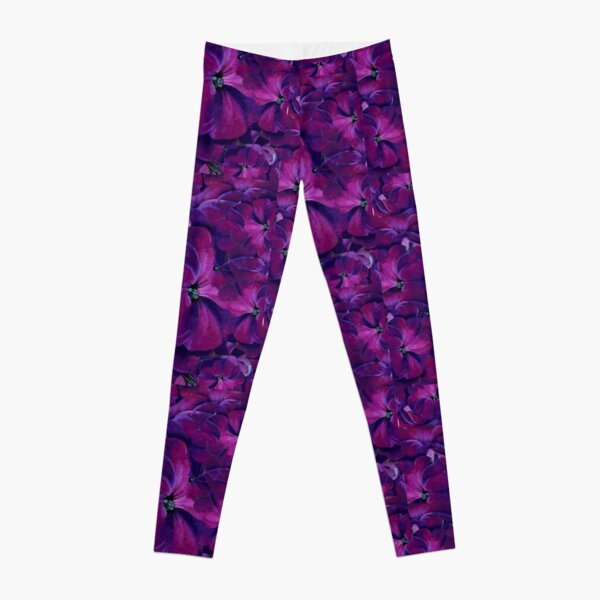 Dots purple flowers  Leggings