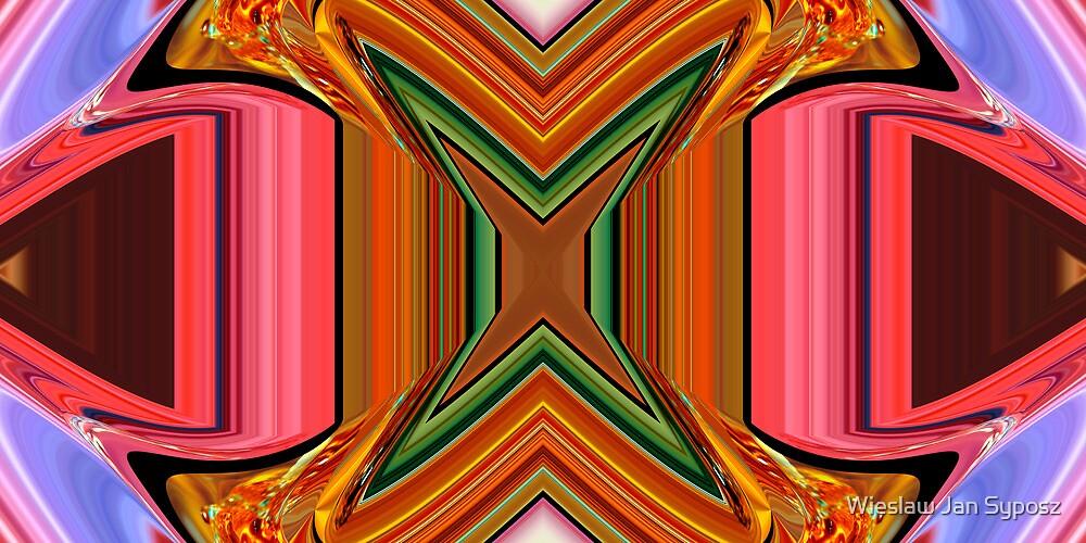 """the """"X"""", digital art 007 by Wieslaw Jan Syposz"""
