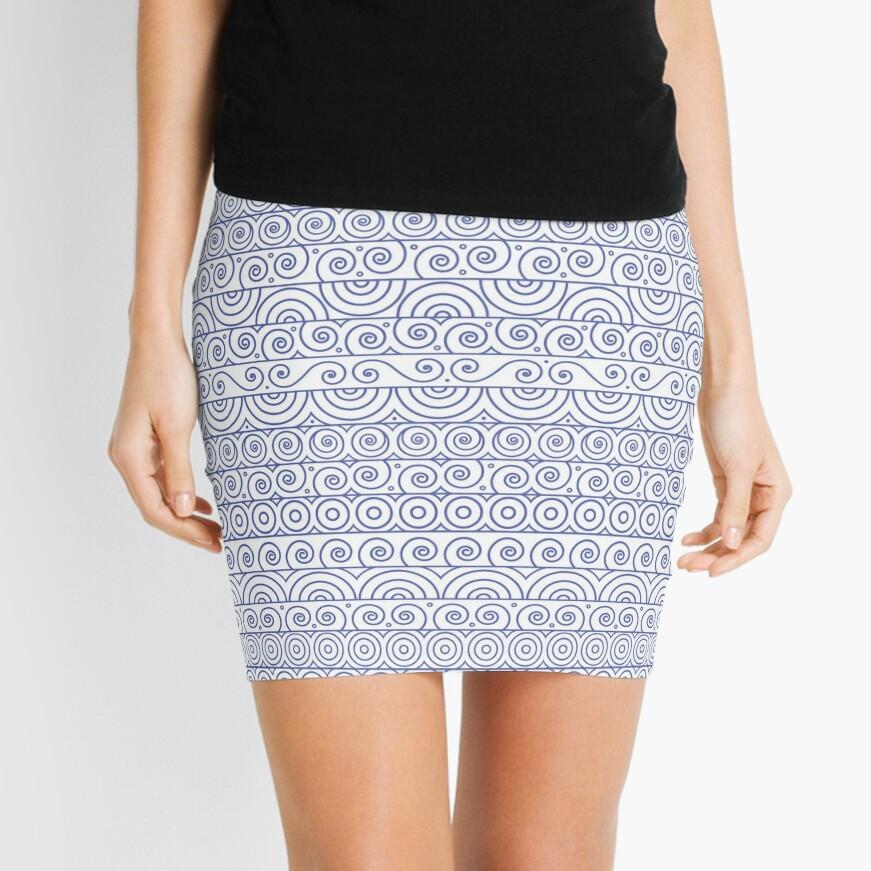 Circles and Curls Patterns Mini Skirt