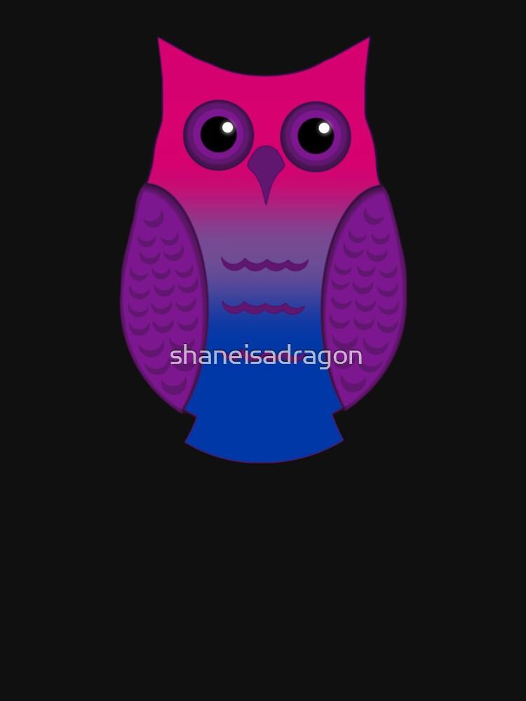 Bi Pride Owl by shaneisadragon