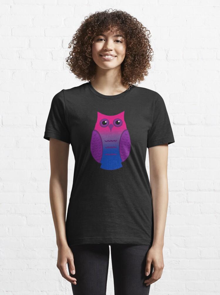 Alternate view of Bi Pride Owl Essential T-Shirt
