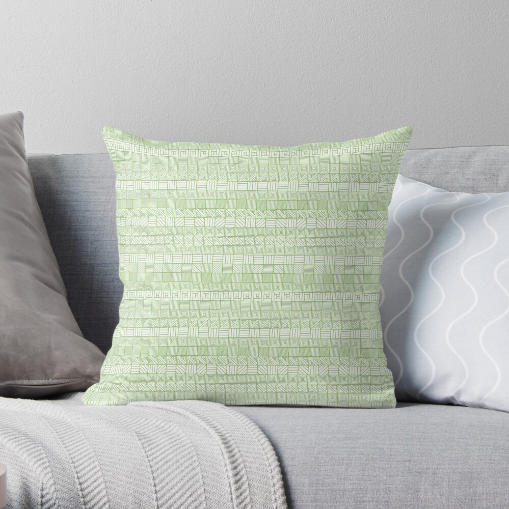 Square Syndrome Pattern Throw Pillow