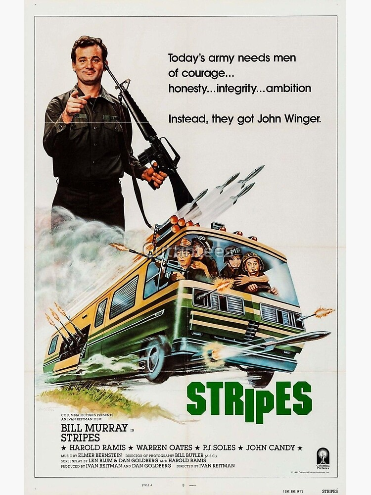 STRIPES - 1980s Comedy Classic by Cuttintees