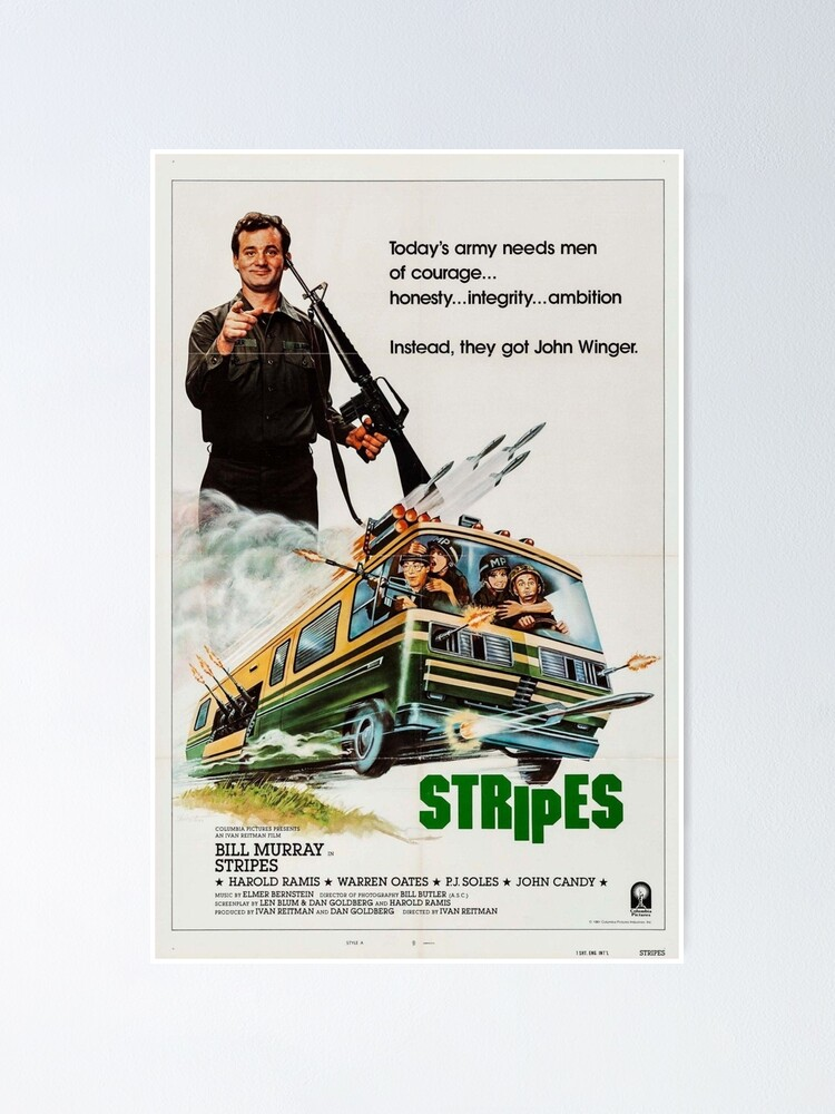 Alternate view of STRIPES - 1980s Comedy Classic Poster