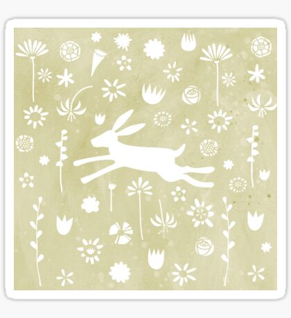 Hare in the Meadow Sticker