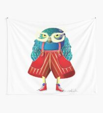 My Owl Red Pants Wall Tapestry