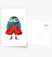 My Owl Red Pants Postcards