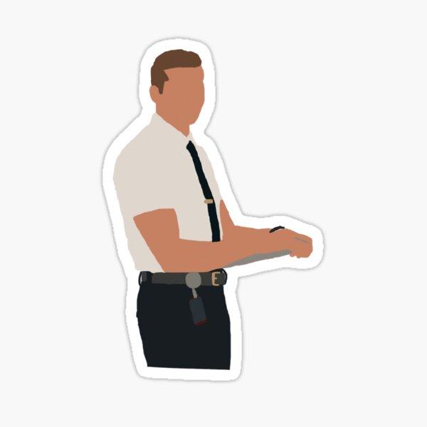 Evan 'Buck' Buckley, shirt and tie Sticker