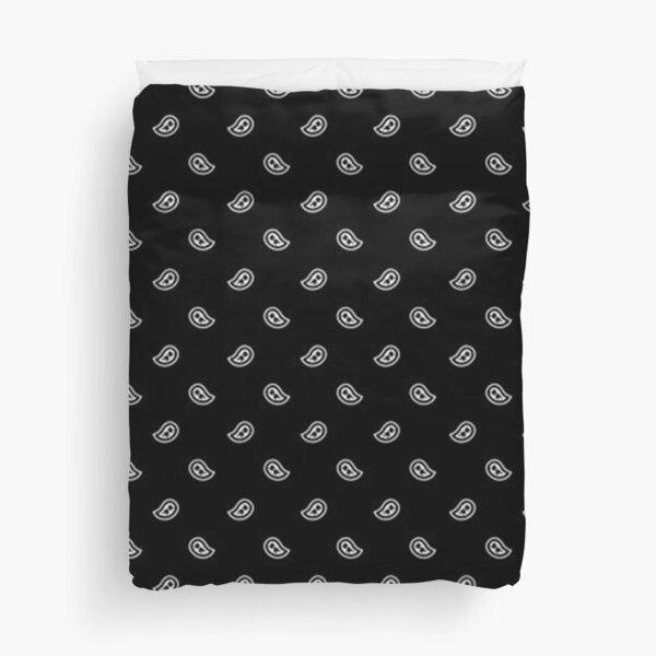 Black bandanna paisley pattern -  Duvet Cover