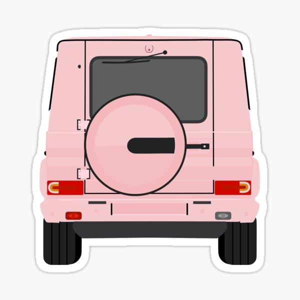 G Wagon (pink) Sticker