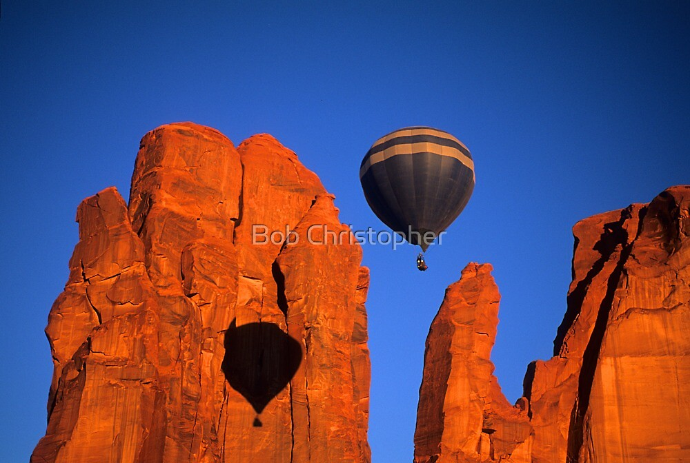 Hot Air Balloon Monument Valley 2 by Bob Christopher