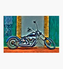Harley Davidson oil Photographic Print