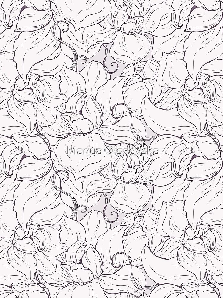 Pale Magnolia Pattern by OzureFlame