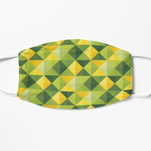 Abstract Green Pattern Mask