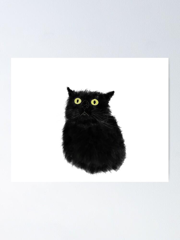 Alternate view of Black Kitty Poster
