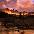 Maligne Pass Morning Light by Bob Christopher