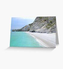 Lalaria Arch and Limestone Cliffs - Skiathos Island, Greece Greeting Card