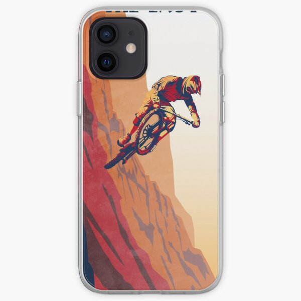 retro style mountain bike poster: Good to the Last Drop iPhone Soft Case