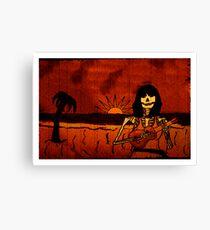 Ukulele Lady Postcard Canvas Print