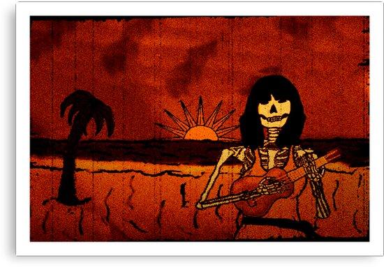 Ukulele Lady Postcard by Placeholder Tees