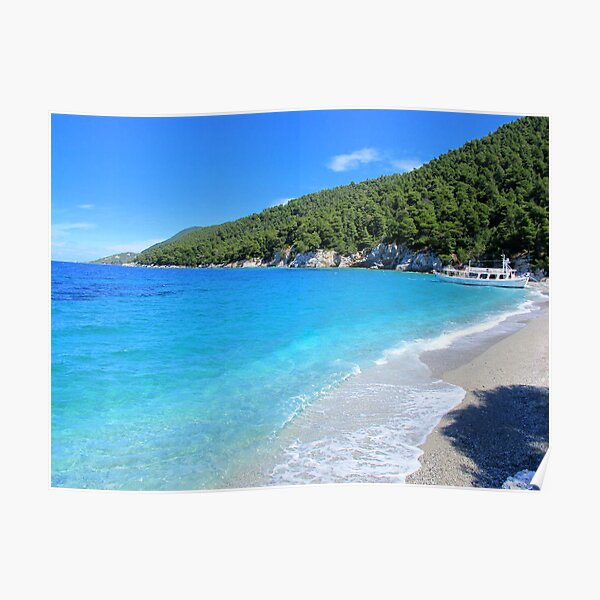 Gialos Kastani beach - Skopelos Island, Greece Poster