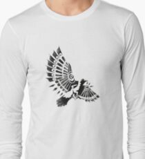 Raven Crow Shaman tribal tattoo design T-Shirt