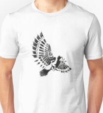 Raven Crow Shaman tribal tattoo design T-Shirt