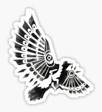 Raven Crow Shaman tribal tattoo design Sticker