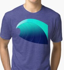 Surf Wave Tri-blend T-Shirt