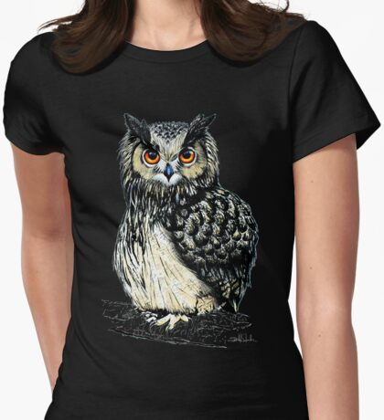 Eagle Owl Womens Fitted T-Shirt