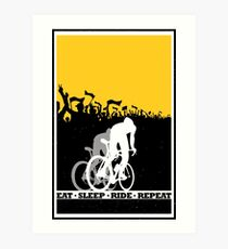 Eat Sleep Ride Repeat Art Print