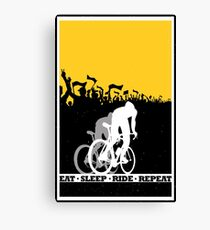 Eat Sleep Ride Repeat Canvas Print