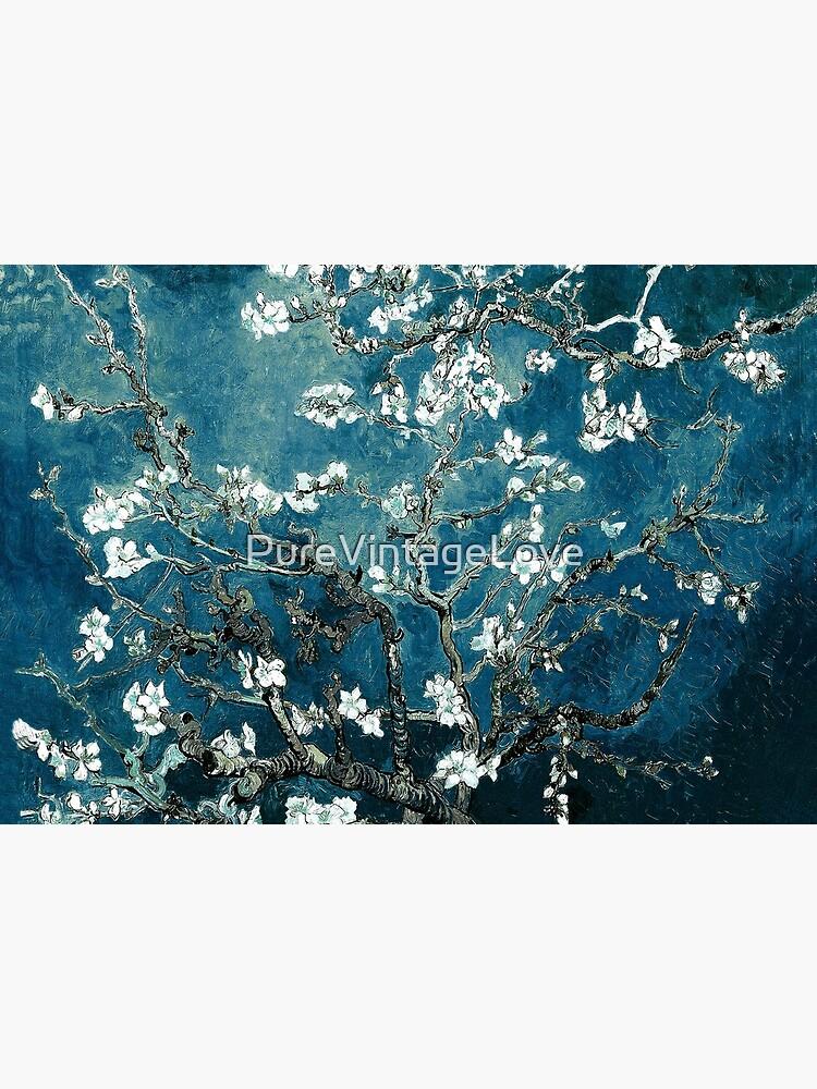 Van Gogh Almond Blossoms Dark Teal by PureVintageLove