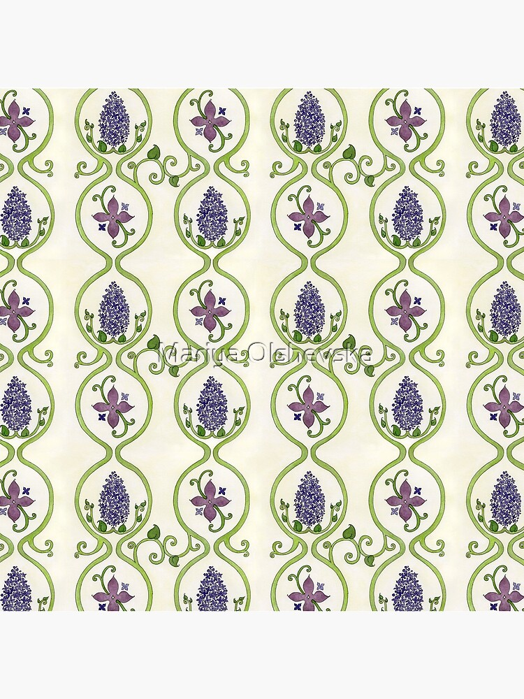 Vintage Lilac Pattern by OzureFlame