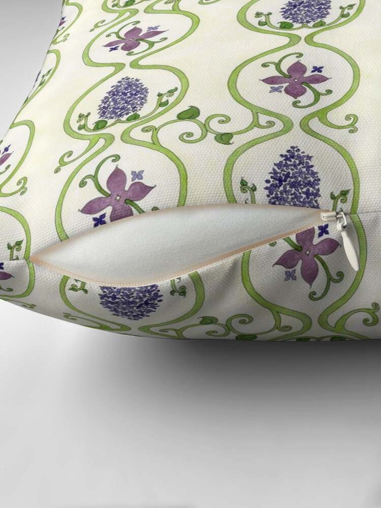 Alternate view of Vintage Lilac Pattern Throw Pillow
