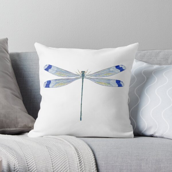 Helicopter Damselfly Throw Pillow