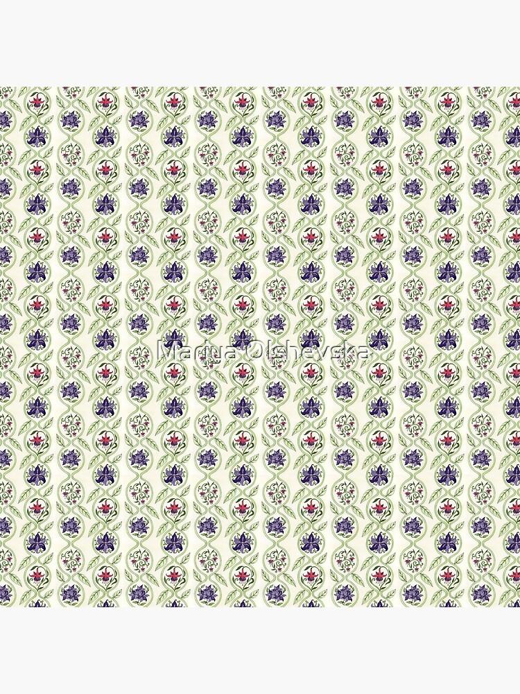 Antique Floral Wallpaper Pattern II by OzureFlame