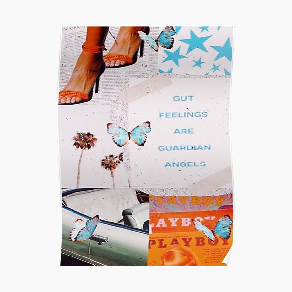 trendy butterfly collage Poster