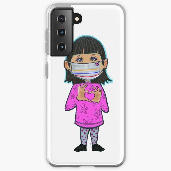 Social distancing love  Samsung Galaxy Soft Case