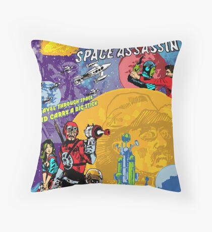 Teddy Roosevelt - Space Assassin! Throw Pillow