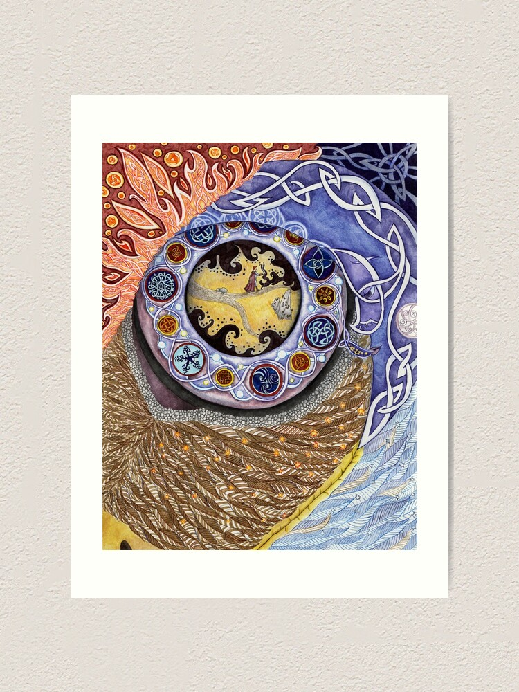 Alternate view of Eye of Achill Art Print