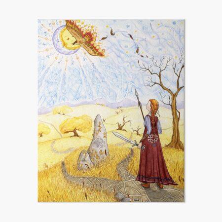 Hawk of Achill Art Board Print