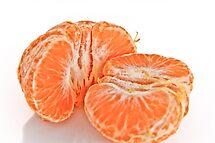 Pealed mandarin orange by derejeb