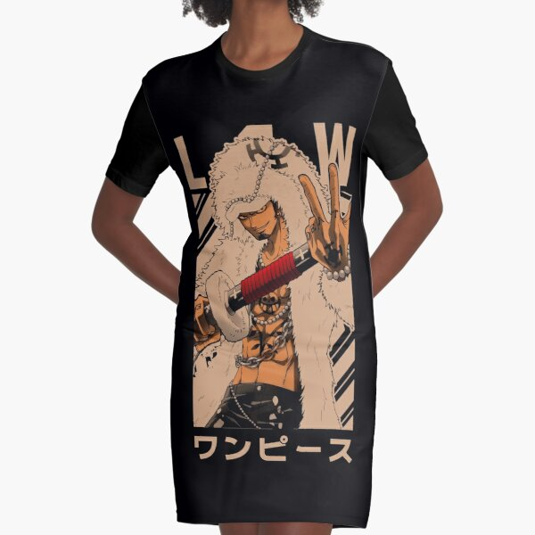 Law = ONE PIECE= Manga Lover Gift Design Graphic T-Shirt Dress