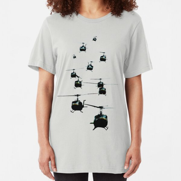 Huey Helicopters Slim Fit T-Shirt