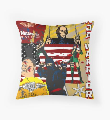 James Madison - Ninja Warrior! Throw Pillow